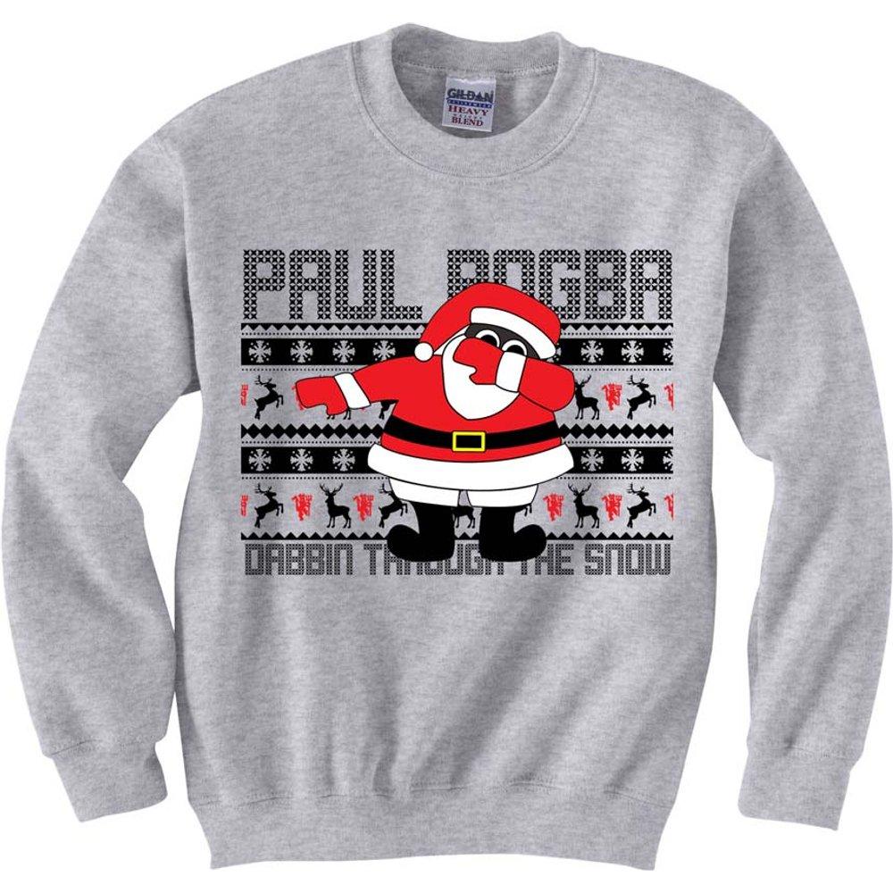 Paul Pogba Christmas Dabbin Jumper (Grey)