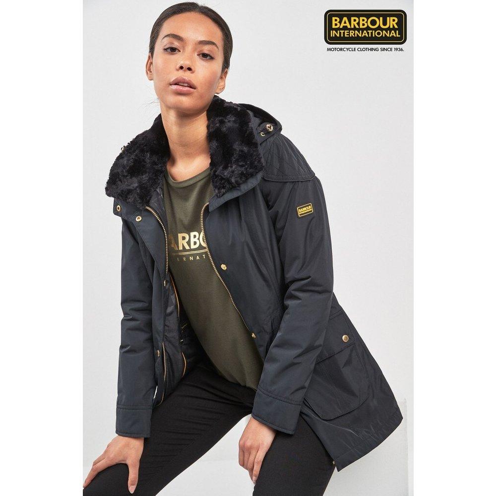 Womens Barbour International Black Garrison Jacket -  Black