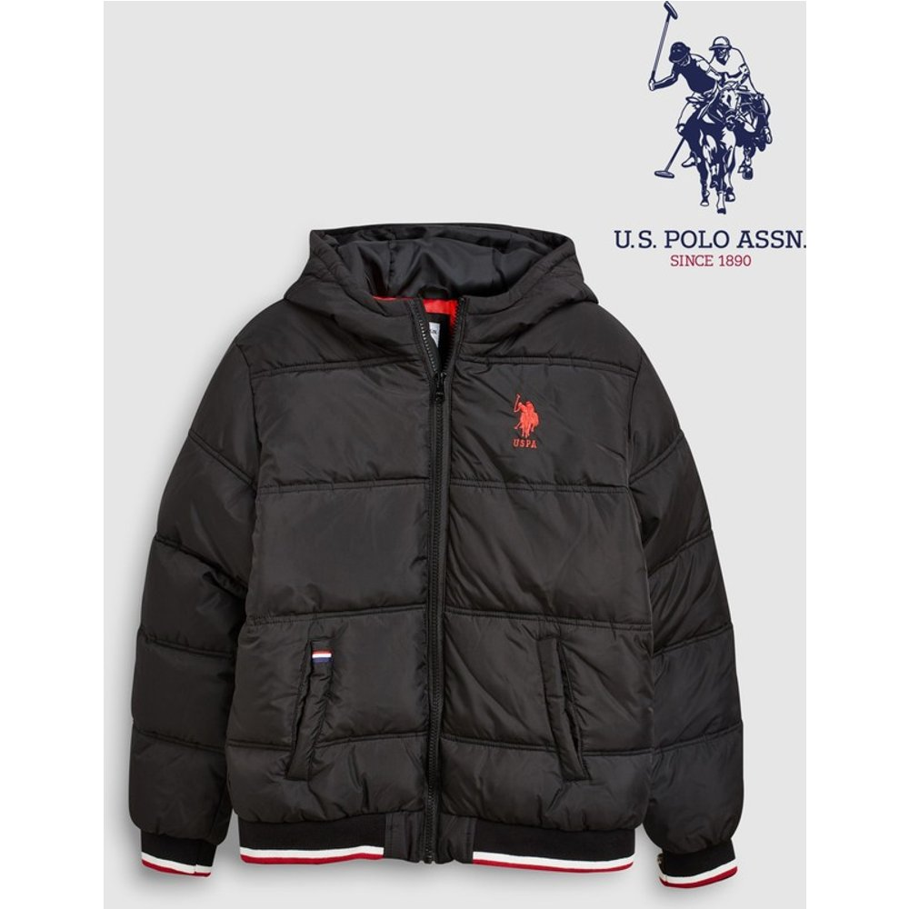 Boys U.S. Polo Assn. Black Padded Jacket -  Black