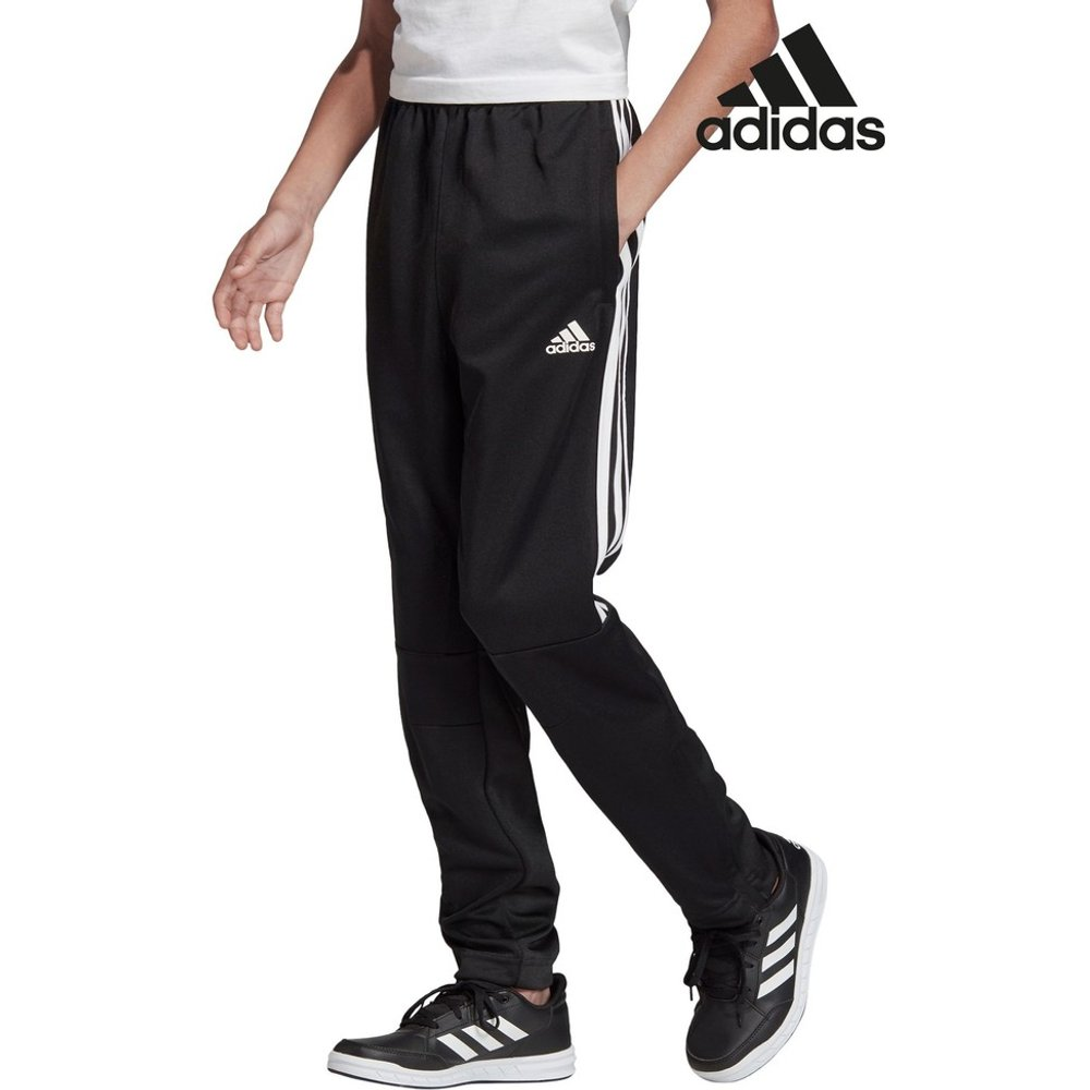 Boys adidas Black Tiro 3 Stripe Jogger -  Black