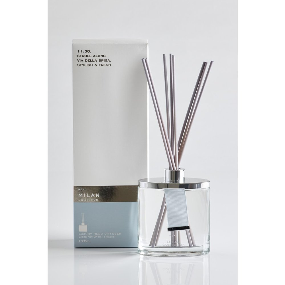 Next Milan Collection Luxe 170ml Diffuser -  Blue