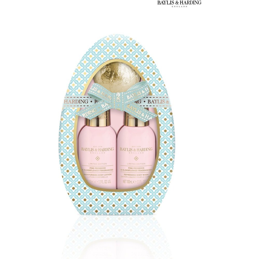 Womens Baylis & Harding Pink Prosecco & Elderflower Egg Gift Set - Blue -  Nude