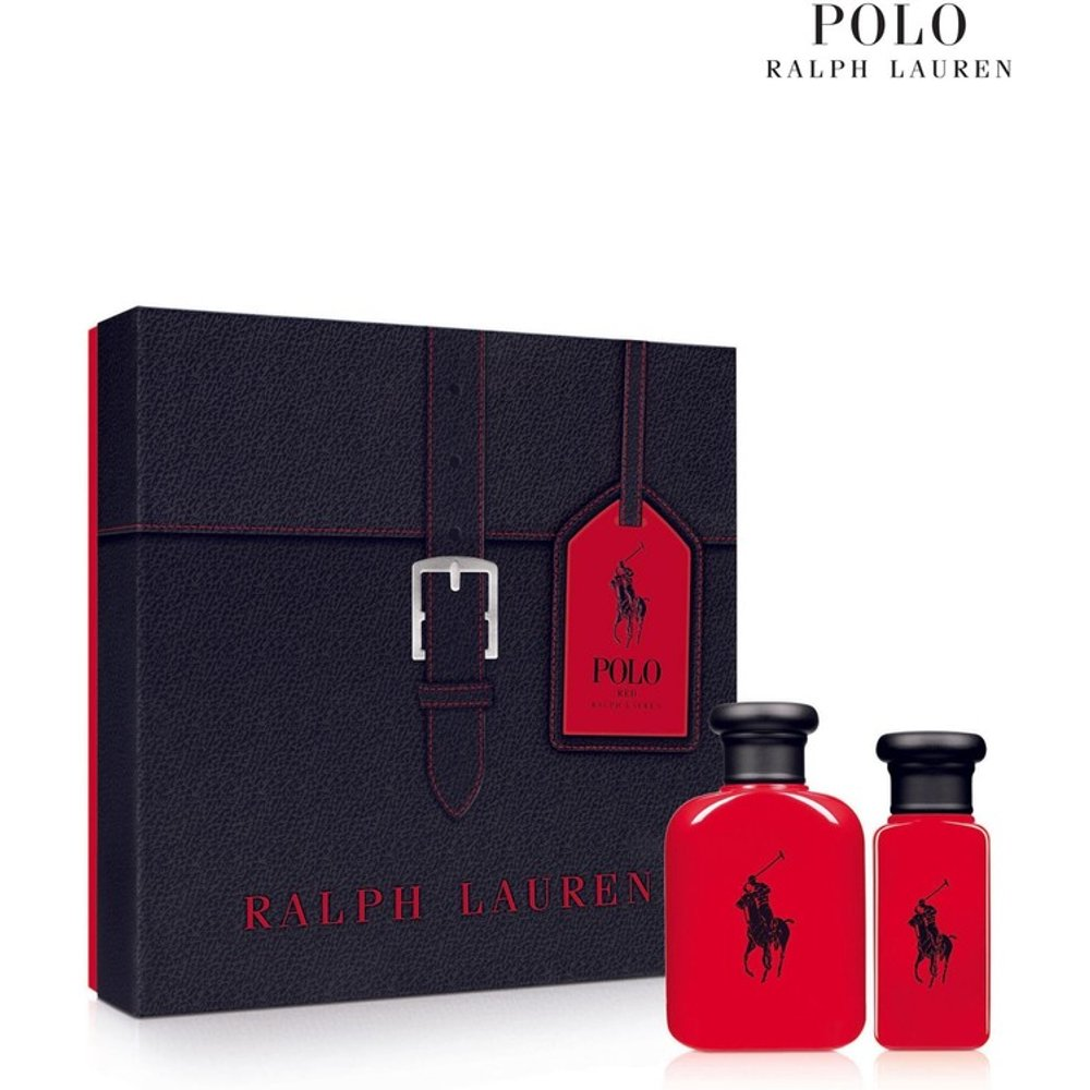 Mens Ralph Lauren Man Red Eau De Toilette men's aftershave Christmas Gift Set -  Red