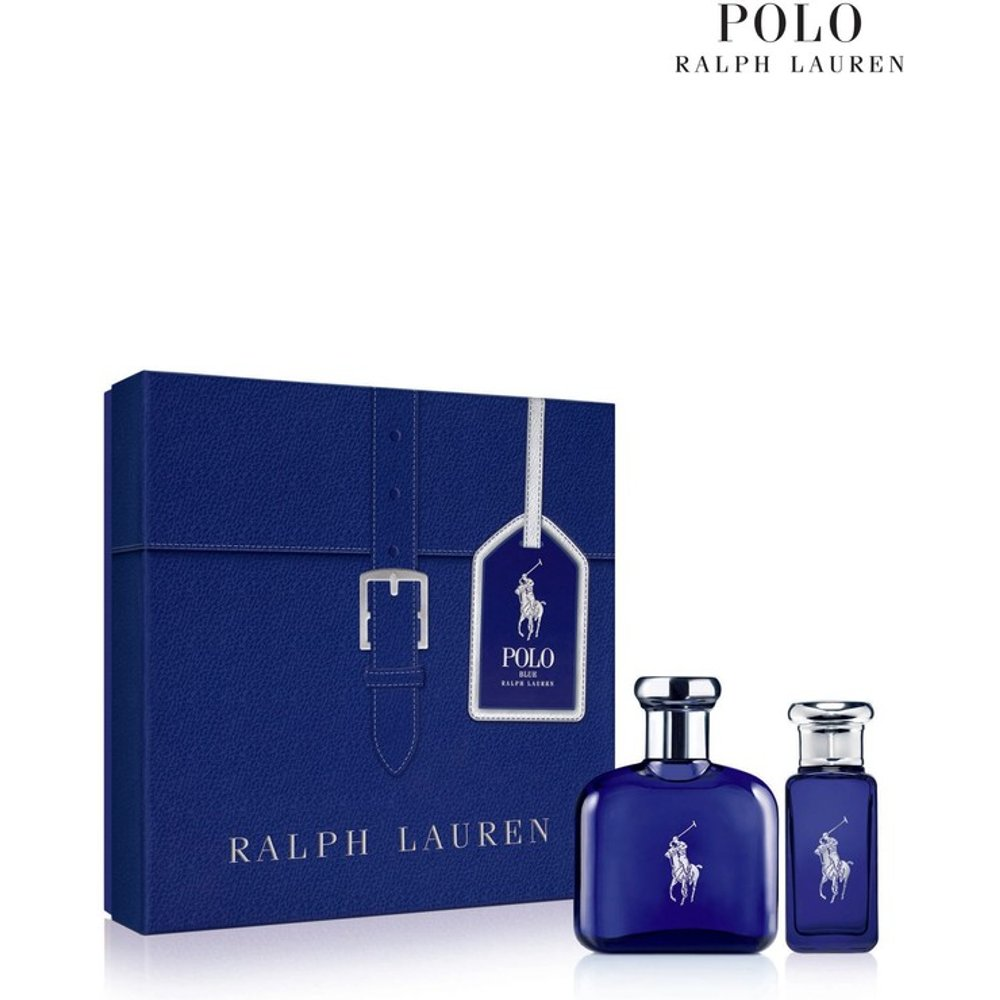 Mens Ralph Lauren Man Polo Blue Eau De Toilette Men's Aftershave Christmas Gift Set -  Blue