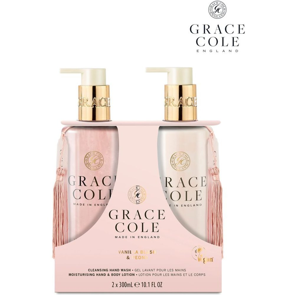 Womens Grace Cole Vanilla Blush And Peony 300ml Hand Care Duo -  Nude