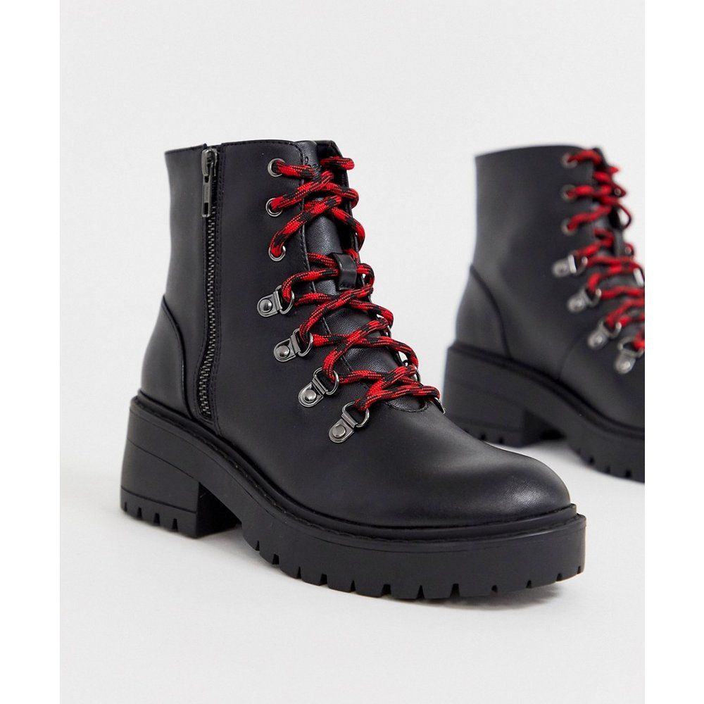 Luggy Bottines à 7 paires d'œillets Cuir