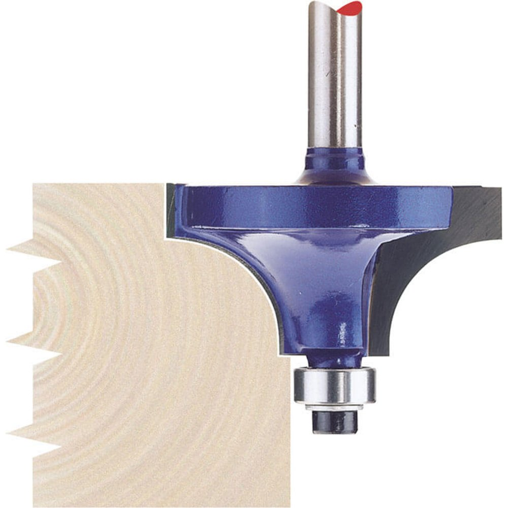 Draper Bearing Guided Beading Router Cutter 38mm 20mm 1/4