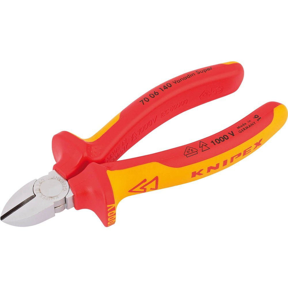 Knipex VDE Insulated Diagonal Side Cutters 140mm