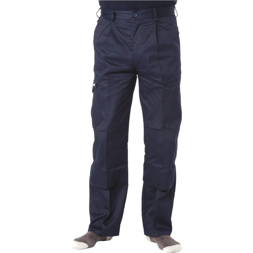 Apache Mens Industry Trousers Navy Blue 42