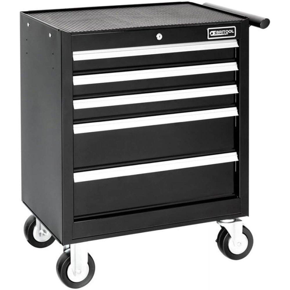 Britool Expert 5 Drawer Roller Cabinet Black
