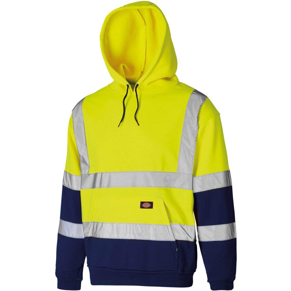 Dickies Mens High Vis Hoodie Yellow / Navy S