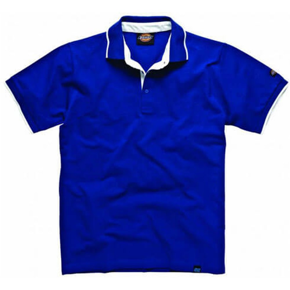 Dickies Anvil Polo Shirt, Blue, Large