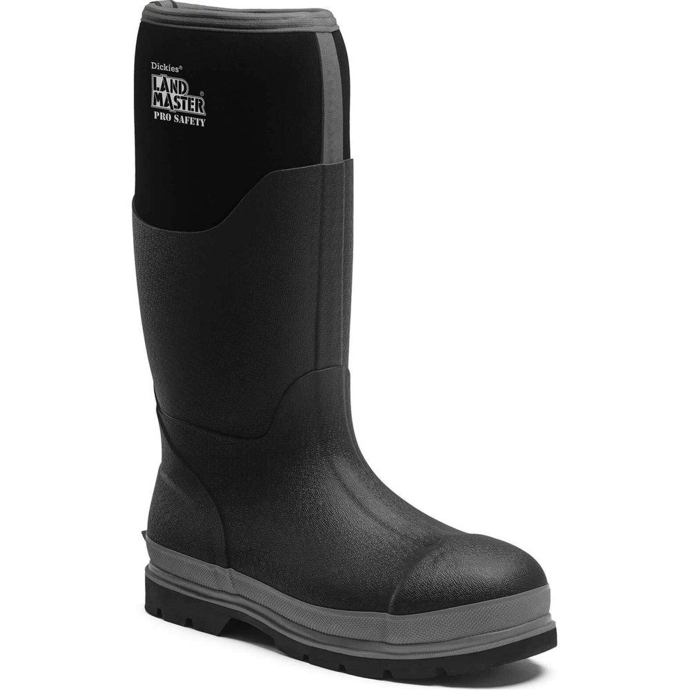 Dickies Landmaster Pro Safety Wellington Boots Black / Grey Size 11.5