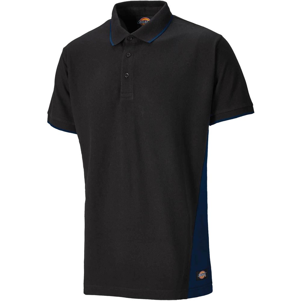 Dickies Mens Polo T Shirt Navy / Black S