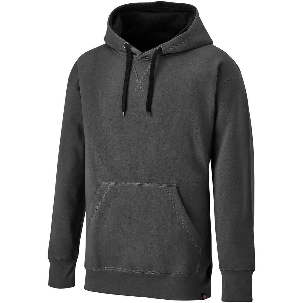 Dickies Mens Two Tone Pullover Hoodie Grey/ Black L