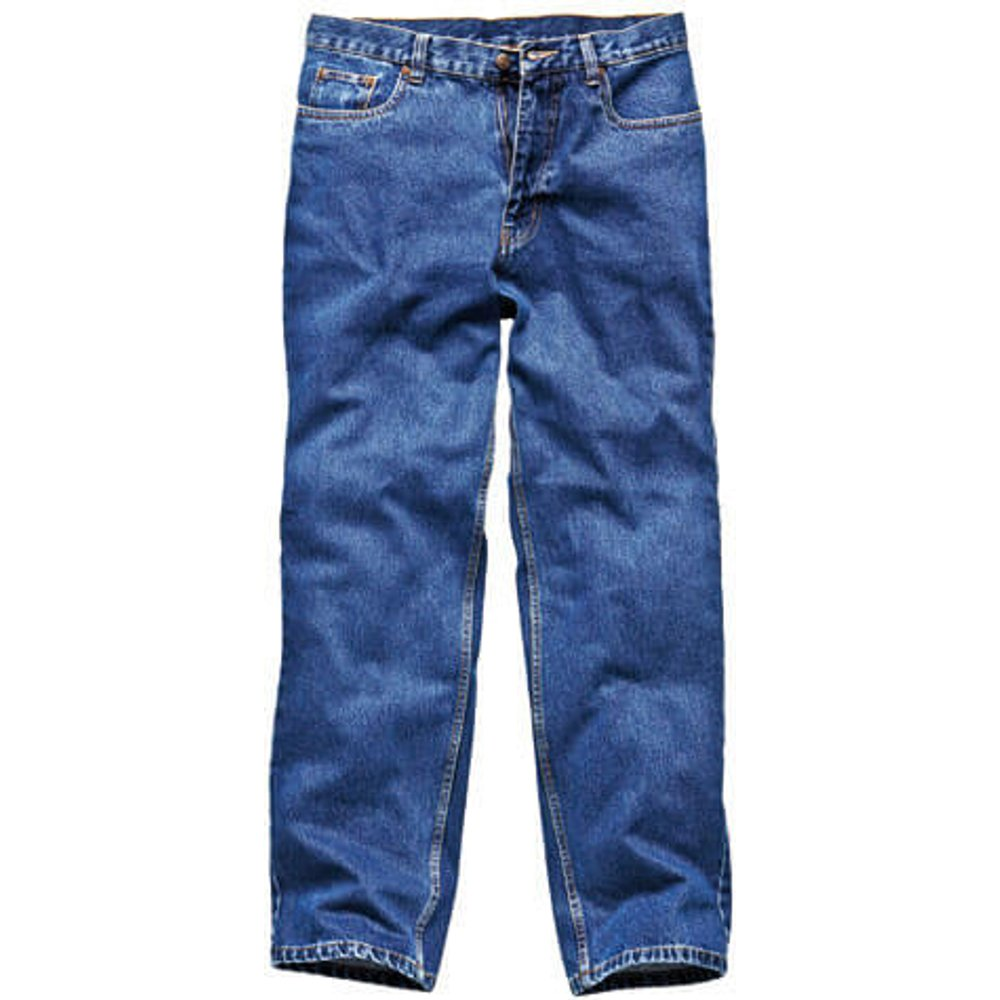 Dickies Mens Stonewashed Jeans Blue 44
