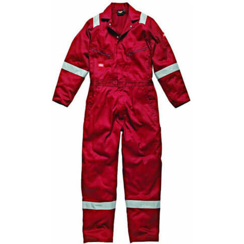 Dickies Mens Cotton Overalls Red S