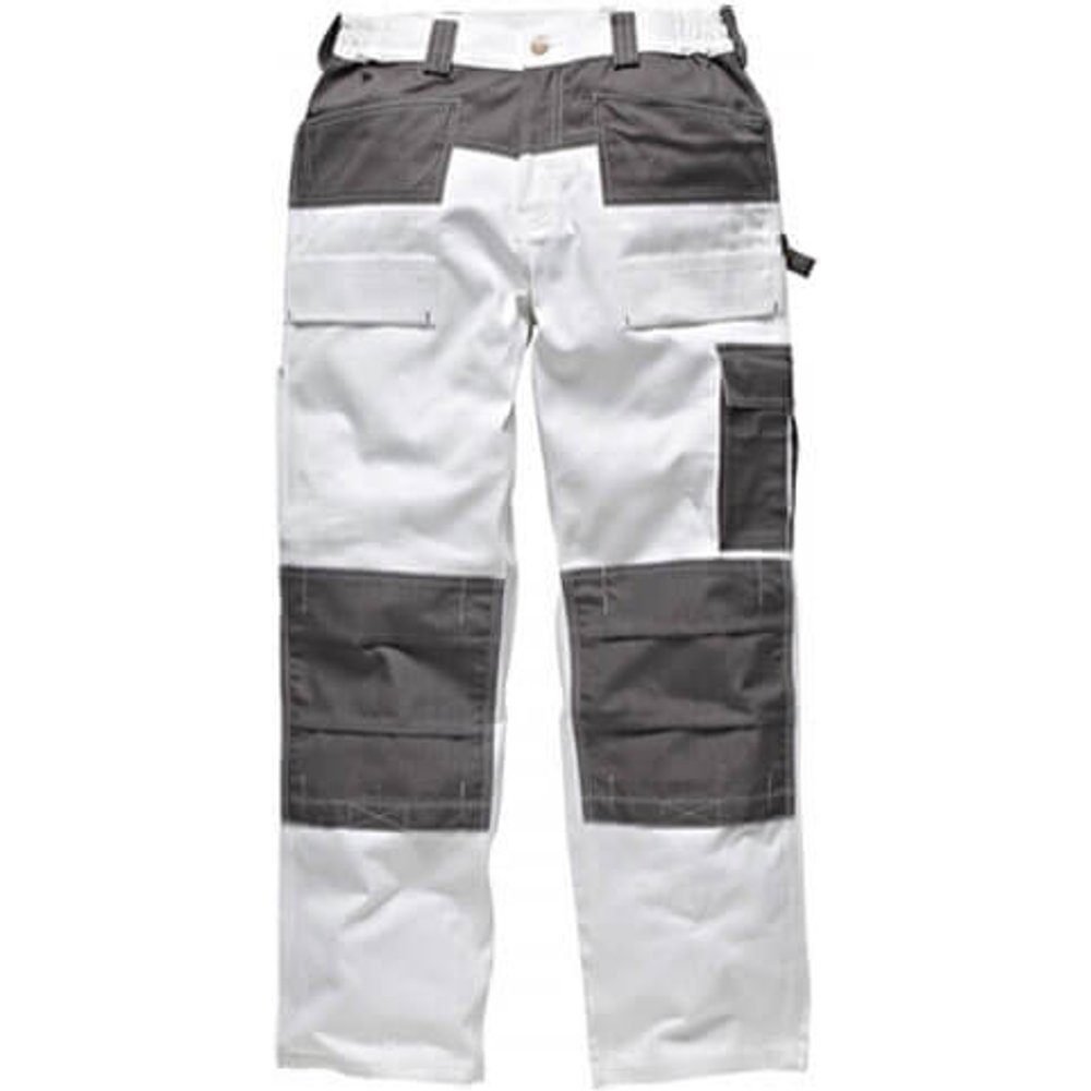 Dickies Mens Grafter Duo Tone 290 Trousers White / Grey 33