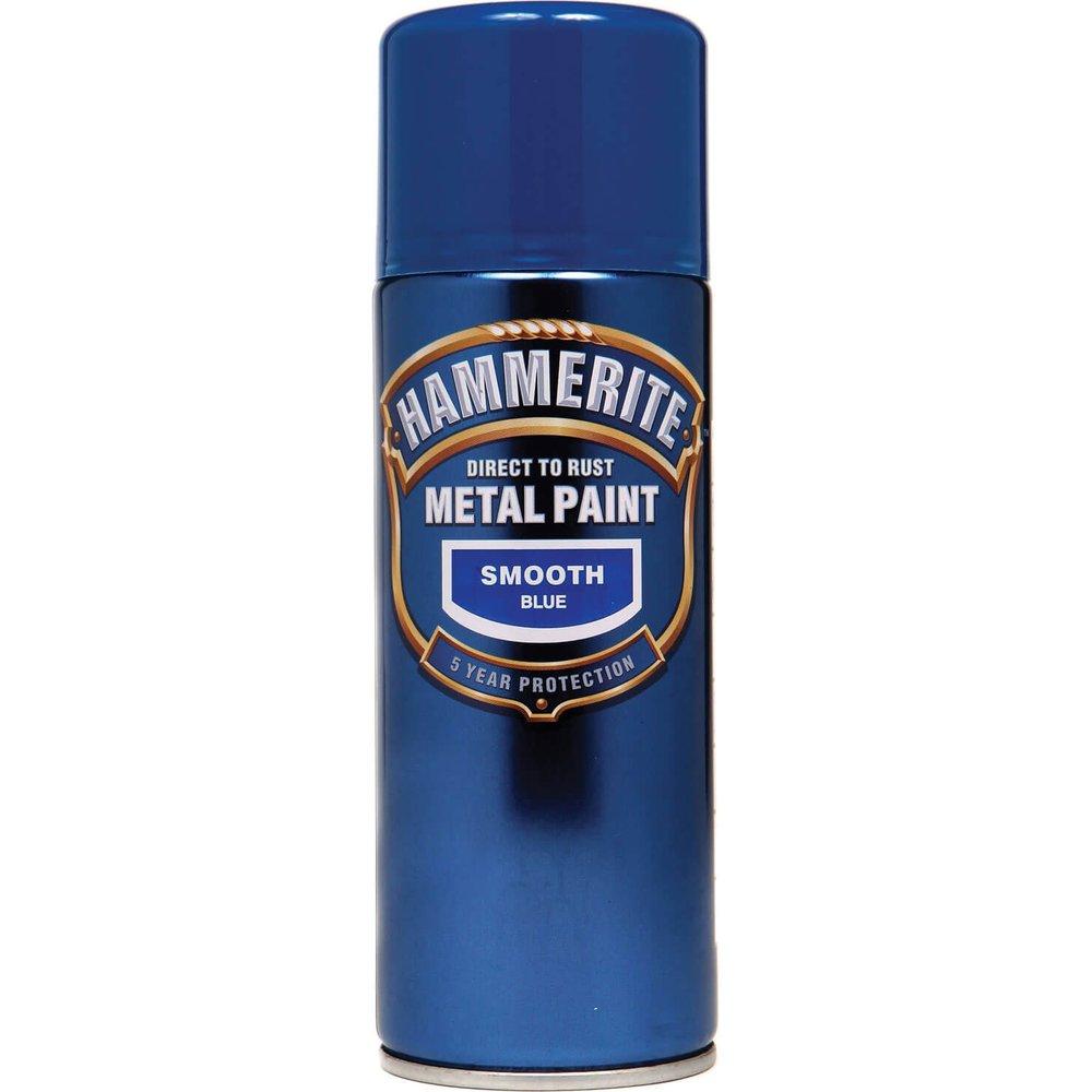 Hammerite Smooth Finish Aerosol Metal Paint Gold 400ml