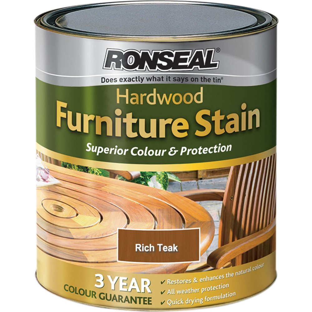 Ronseal Hardwood Furniture Stain Rich Teak 750ml