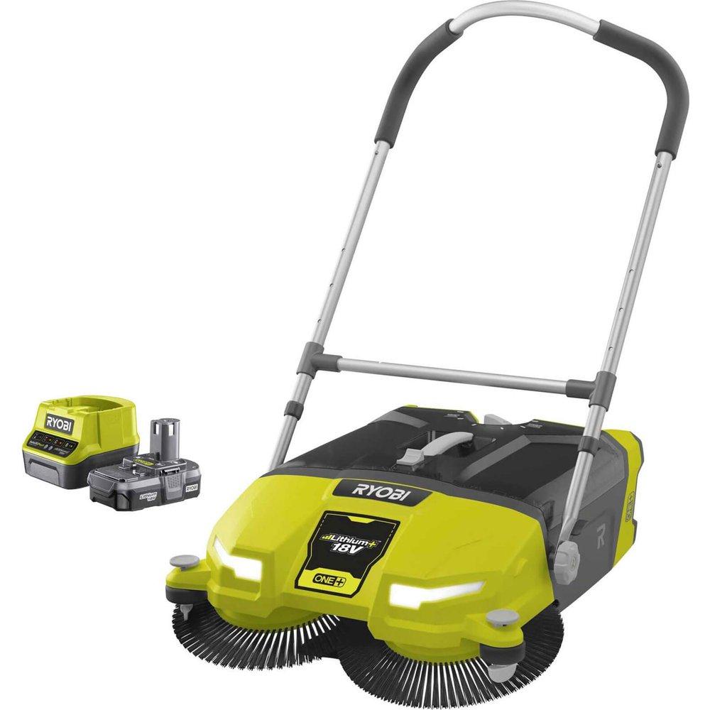 Ryobi R18SW3 ONE+ 18v Cordless Devour Floor Sweeper 1 x 2ah Li-ion Charger No Case
