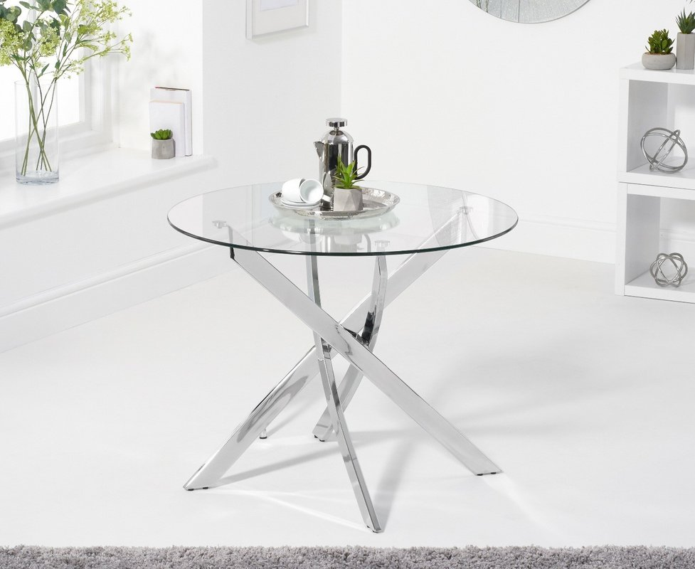 Denver 95cm Round Glass Dining Table 179 00 Save Up To 40 Off
