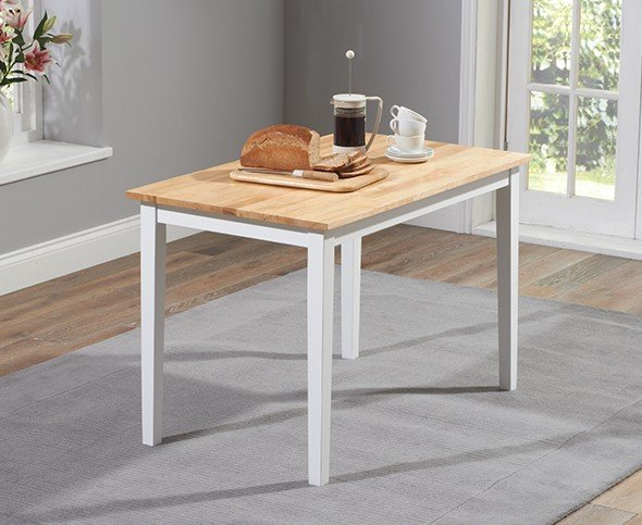 Photo of Chiltern 114cm White And Oak Dining Table