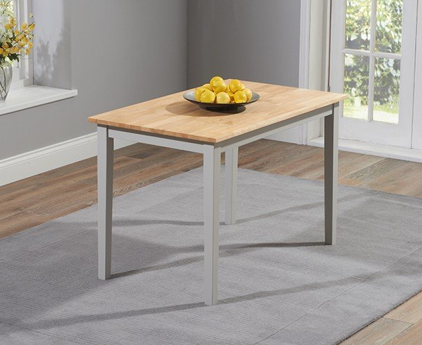 Photo of Chiltern 114cm Grey And Oak Dining Table