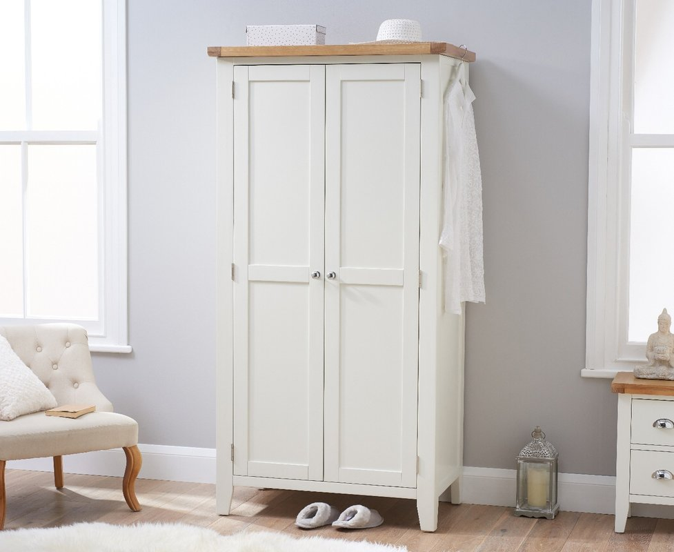 Photo of Eden Oak And White Two Door Wardrobe