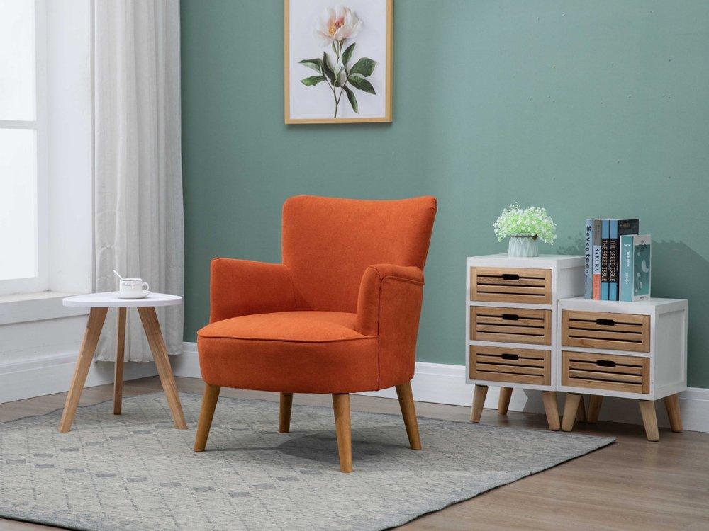 Photo of Knightley Sunburst Orange Armchair