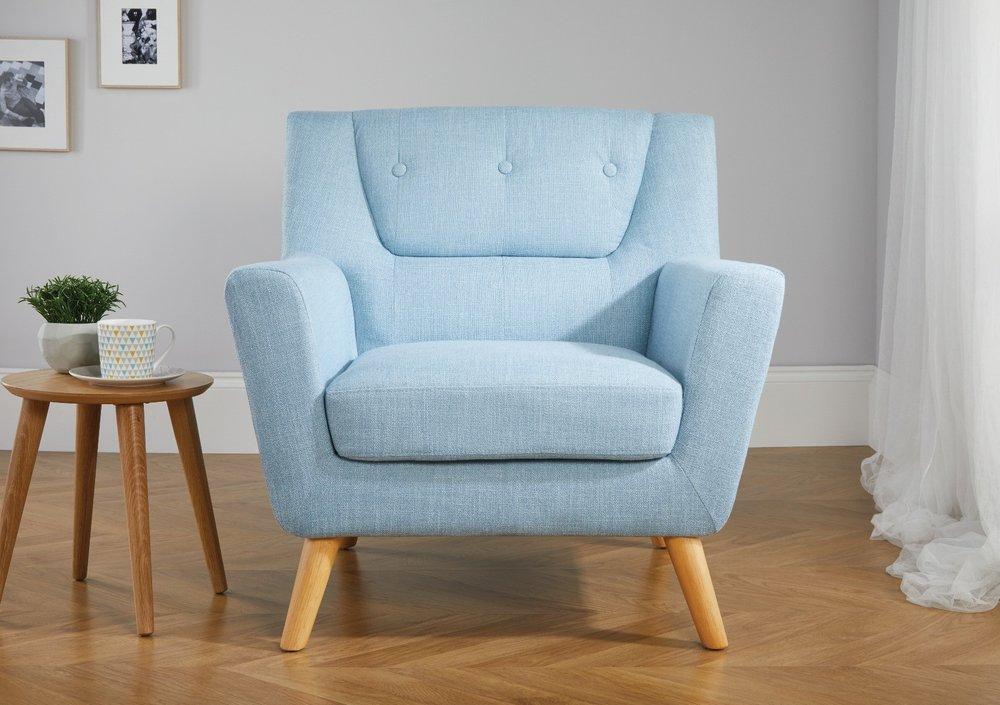 Photo of Lido Duck Egg Blue Armchair