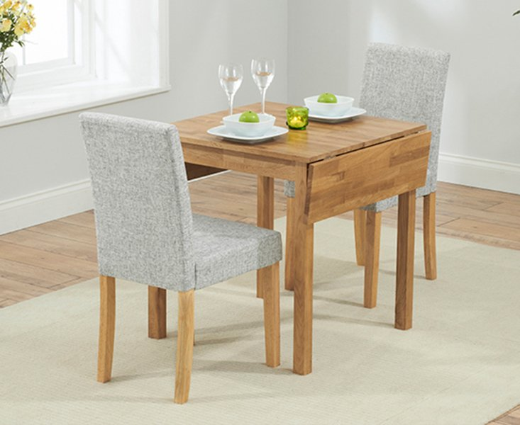 Photo of Oxford 70cm Solid Oak Extending Dining Table With Mia Fabric Chairs