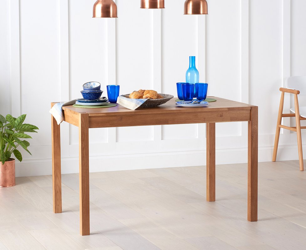 Photo of Oxford Solid Oak 120cm Dining Table