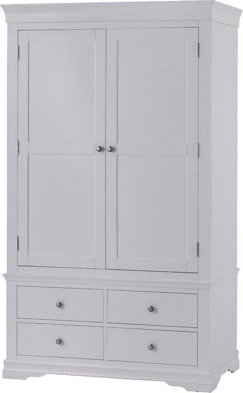 Photo of Simone Grey 2 Door 4 Drawer Wardrobe