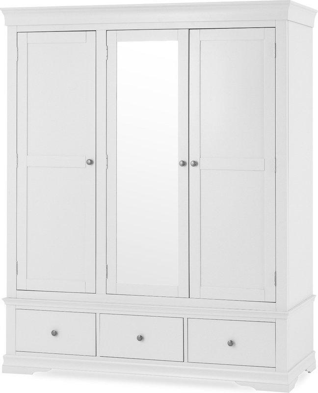 Photo of Brooklyn White Large Three Door Wardrobe
