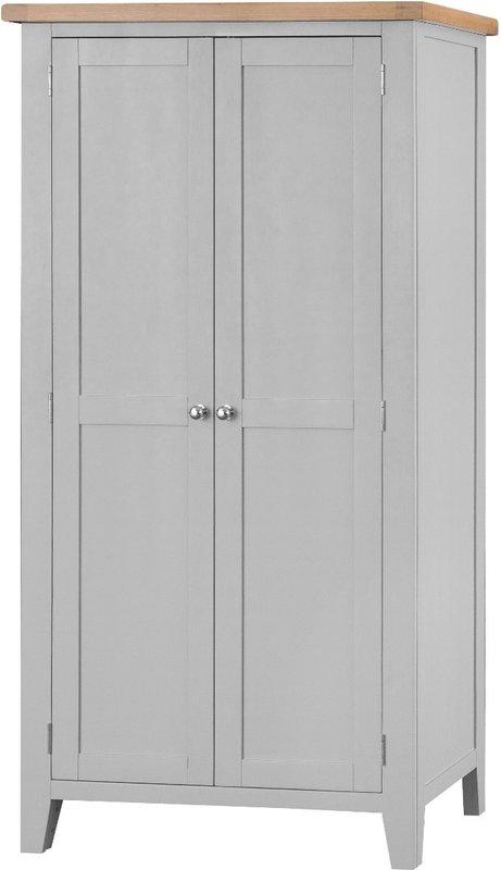 Photo of Willow Oak And Grey 2 Door Wardrobe