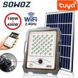 Tuya smart home control Smart life Outdoor Solar Camera HD 1080P IP65 Wiring LED Solar Street Light PIR Motion Sensor Spotlight