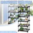 Simple Metal Flower Plant Display Stand Home Garden Multi Layer Plant Flower Pot Storage Rack Durable Balcony Flower Stand