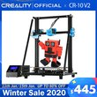 CREALITY 3D Upgrade CR10 V2 Printer Size 300*300*400mm,Silent Mainboard Resume Printing with Mean well Power Supply