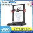 CR10S Pro V2 3D Printer MeanWell CREALITY 3D Large Print Size BL Touch Touch LCD Printer Resume Printing Filament Detection