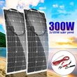 300W/150W Solar Panel 18V Semiflexible Solar Cell Cable for Car Yacht Light Battery Boat Outdoor Connector Battery Charger