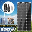 300W/150W 18V Semiflexible Solar Panel Solar Cell Cell Module DC for Car Yacht Light RV Boat Water Pump Outdoor Battery Charger