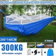 12 Person Portable Outdoor Camping Hammock with Mosquito Net High Strength Parachute Fabric Hanging Bed Tent Sleeping Swing Cha