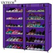 NonWoven Fabric Shoe Rack Organizer Multiple Layers Shoes Shelf Storage Cabinet Save Space Dustproof Shoes Holder