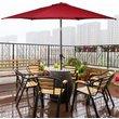 GIANTEX 10 ft 6 Ribs Patio Umbrella with Crank High Quality Steel Tilt Sun Tent Rain Shelter UV Protection Beach Umbrella