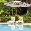 Adjustable 10 Ft Wooden Outdoor Umbrella Sunshade Garden Weatherproof Parasol Rain Cover Beach Umbrella Furniture OP3123