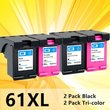 61XL ink cartridge HP61 61 XL HP61XL Refilled cartridges For HP 1000 1010 1050 1510 2000 2050 2510 3000 3050 Envy 4500 printer