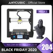 ANYCUBIC MegaS Mega S 3D Printer DIY Printing Touch Screen Rigid Metal Frame Mean Well Power Supply Upgrade Version of I3 Mega
