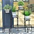4 in 1 Heavy Duty Metal Shelf Display Pot Plant Stand Indoor Garden Decor OP3341