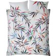 Sara Miller Bamboo Print Duvet Set  White  Super King